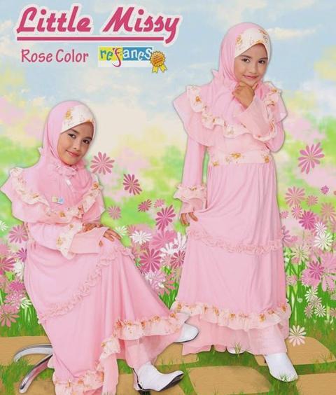 baju muslim keke anak
