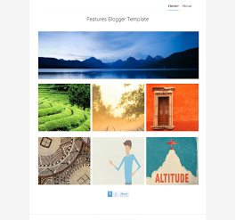 Features Responsive Portfolio Blogger Template
