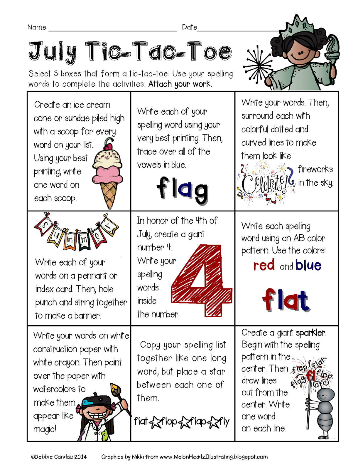 math worksheet : sailing through 1st grade july and september spelling tic tac toe : Tic Tac Toe Math Worksheets