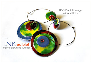 INKredible polymer clay alcohol inks tutorial