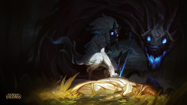 Sheep and Wolf Kindred Jungler from League of Legends
