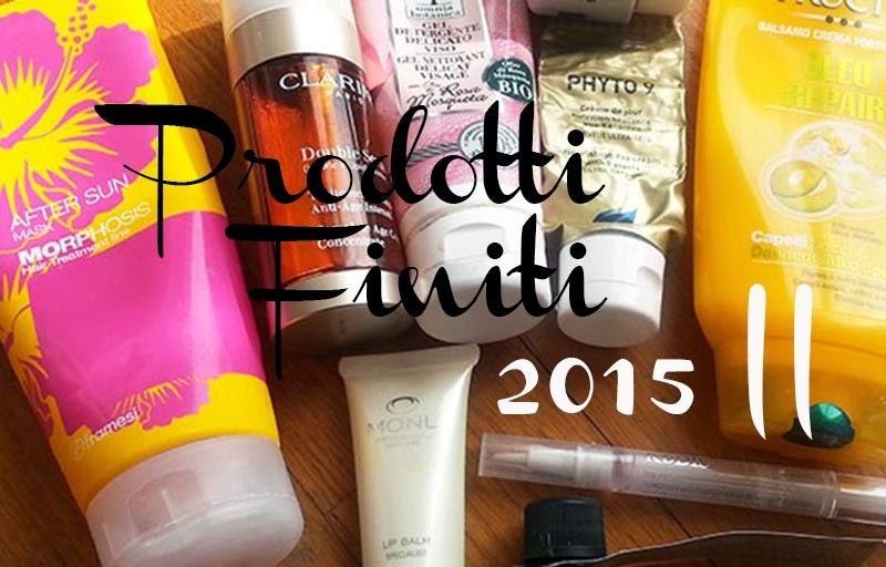 Empties, prodotti finiti, prodotti finiti febbraio 2015