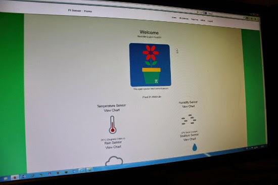Web Site mostrando a leitura dos sensores