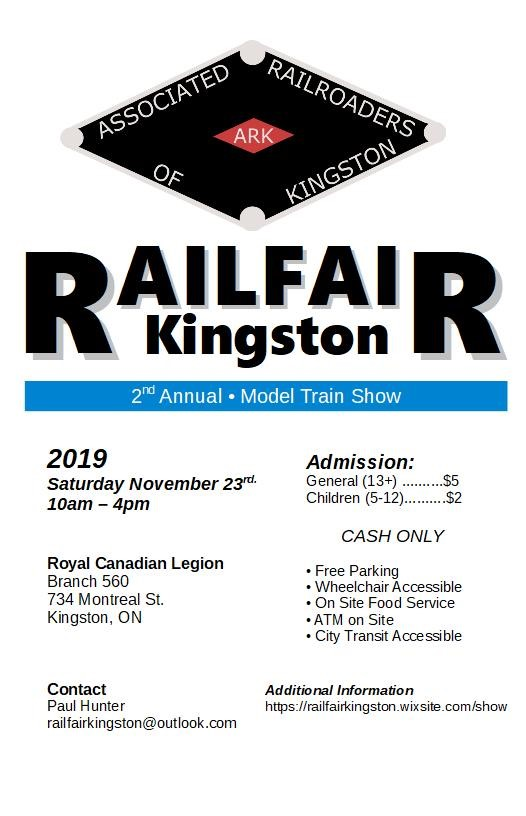 Kingston Railfair Train Show November 23
