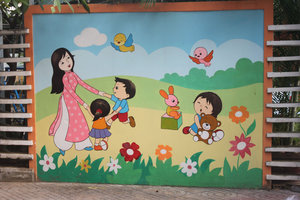 Outside a kindergarten in Nha Trang city