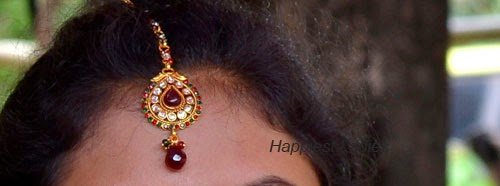 Ruby Drops Maang Tikka: Indian Jewellery