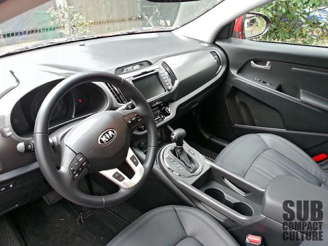 2013 Kia Sportage SX AWD interior - Subcompact Culture