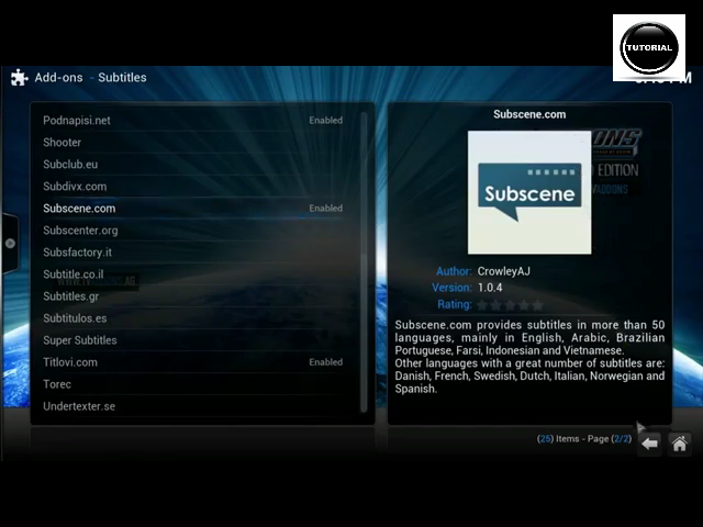Tutorial on how to add subtitles on moviestv shows in kodi xbmc hi guys this video is tutorial on how to add subtitles on moviestv shows in kodi video add ons ccuart Images