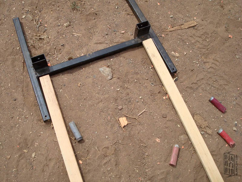 Wood Target Stand ~ Blk rfl div quot idpa ipsc target stands