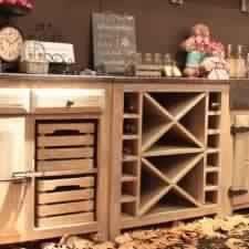 Porte de cuisine en bois cuisine cognac targa cuisine avec porte fenetre fe - Meubles cuisine bois brut ...