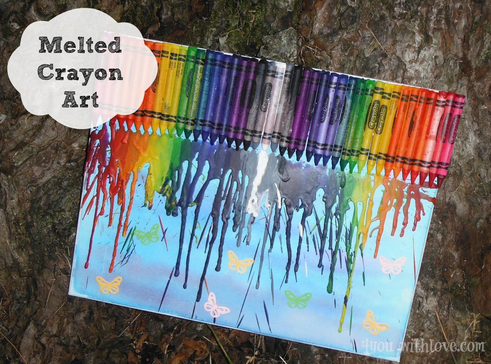 Here Is The Project From JoAnn That Inspired Us To Find More About Their Crayon Melted Canvas Go HERE