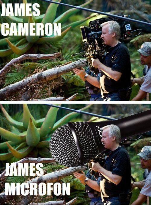 james cameron pelicula camara microfono meme pitufos avatar