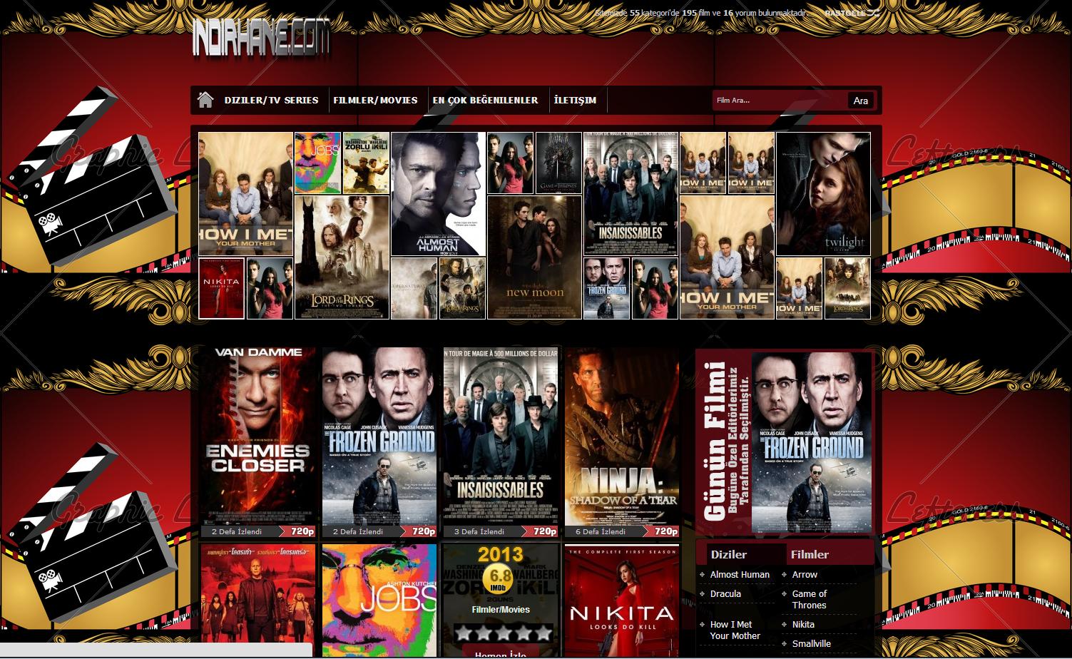 Indirhanecom çok Iddalı Dizi Ve Film Izleme Sitesi Website