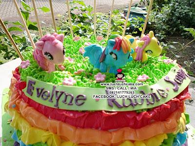 Kue Tart My Little Pony Daerah Surabaya Sidoarjo (REAPET ORDER)