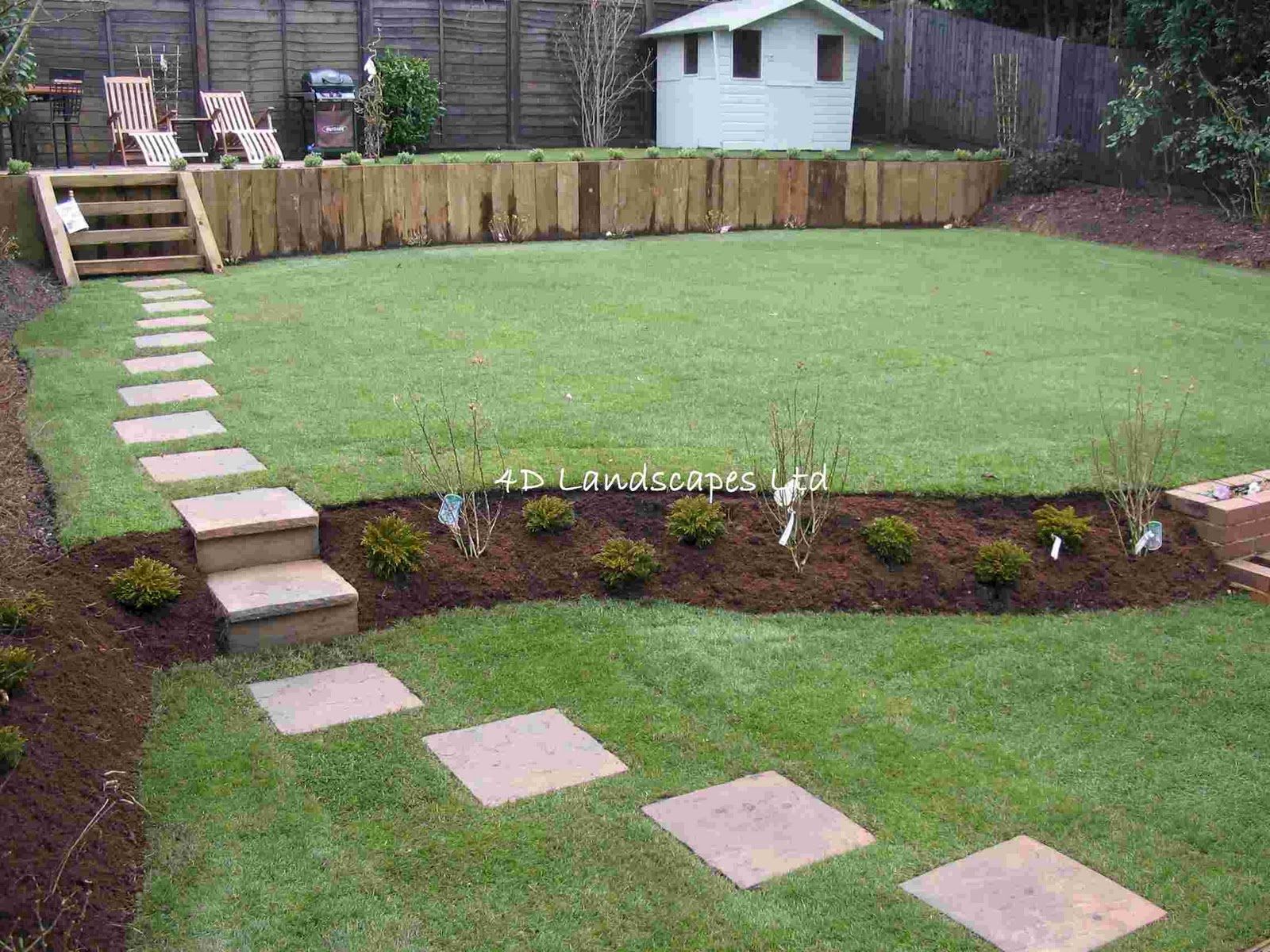 multi level lawn various design inspiration
