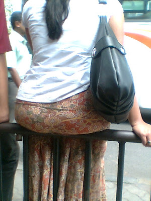 big ass indian girl at bus stop