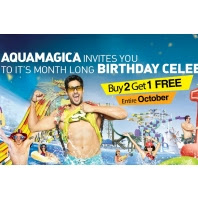 Aquamagica Birthday Celebrations : Buy 2 Get 1 Free Entire October