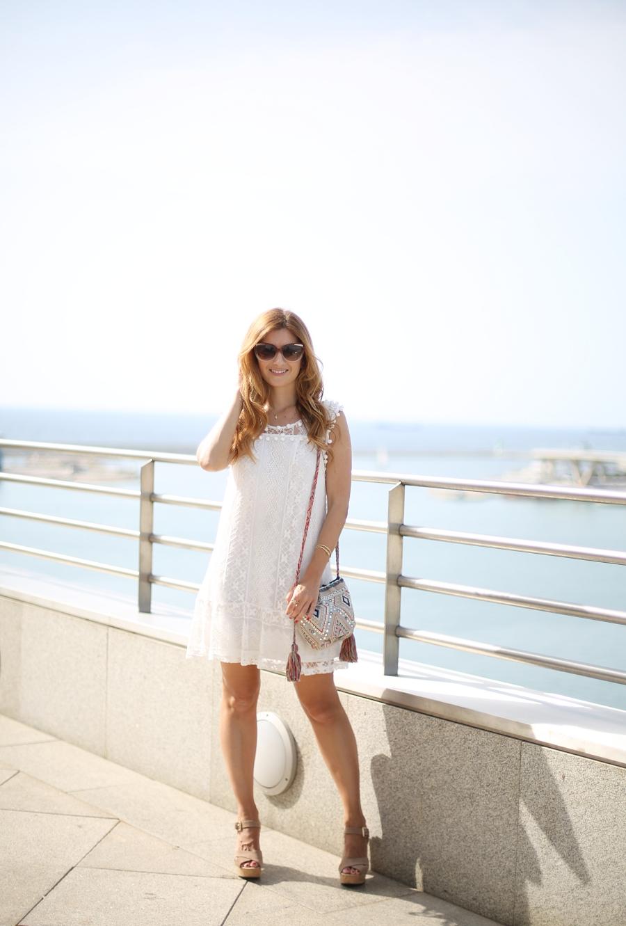 Barcelona. Vestido ibicenco