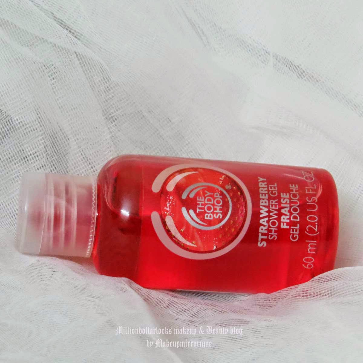 The Body Shop Strawberry Shower Gel Review, Pictures & Price in India, Best of The Body shop products, The body shop shower gel range, The body shop strawberry range review, Indian beauty blog, Indian beauty blogger, Indian makeup blogger, Indian makeup and beauty blog, Best bath products India, Best strawberry shower gel, Strawberry fragrance, Shower gel review India, The body shop india review