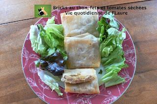 Vie quotidienne de FLaure: Bricks au thon, feta et tomates séchées