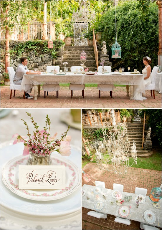 Garden wedding flower favor ideas http refreshrose for Backyard engagement party decoration ideas