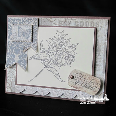 North Coast Creations Stamp sets: Floral Sentiments 8, Our Daily Bread Designs Custom Dies: Mini Tags, Pennant, ODBD Vintage Ephemera Paper Collection