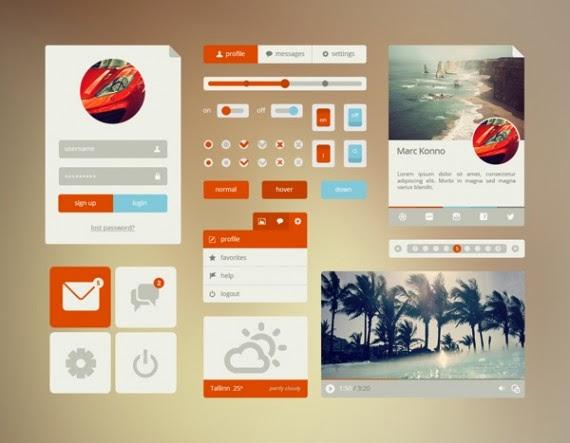 Orange/Cyan UI