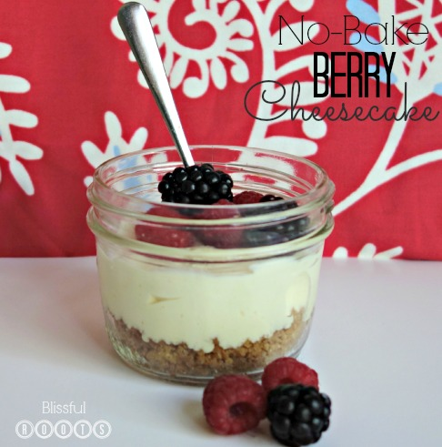 No-Bake Berry Cheesecake from Blissful Roots