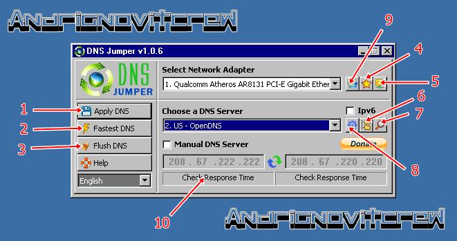 Download Dns Jumper free - terbaru versi 1.0.6 dan cara menggunakan dns jumper
