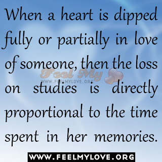 When a heart is dipped fully or partially in love of someone
