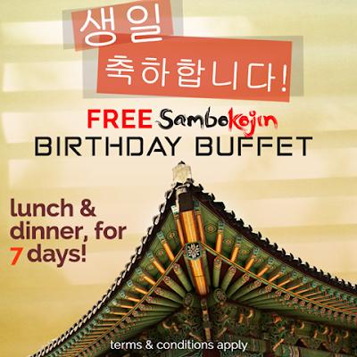 FREE BIRTHDAY BUFFET from Sambo Kojin