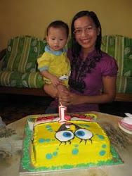 Abbie on his 1st Birthday
