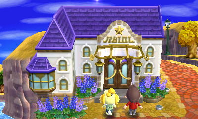 Apparently i put the guitars the wrong way around oops for Animal crossing happy home designer hotel