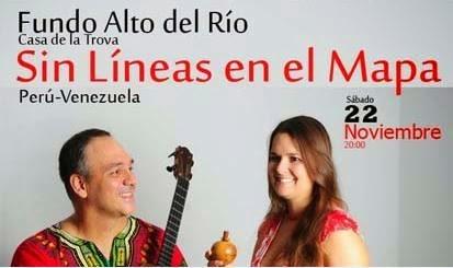 Trova, 'Sin lineas en el mapa' en Arequipa - 22 de noviembre