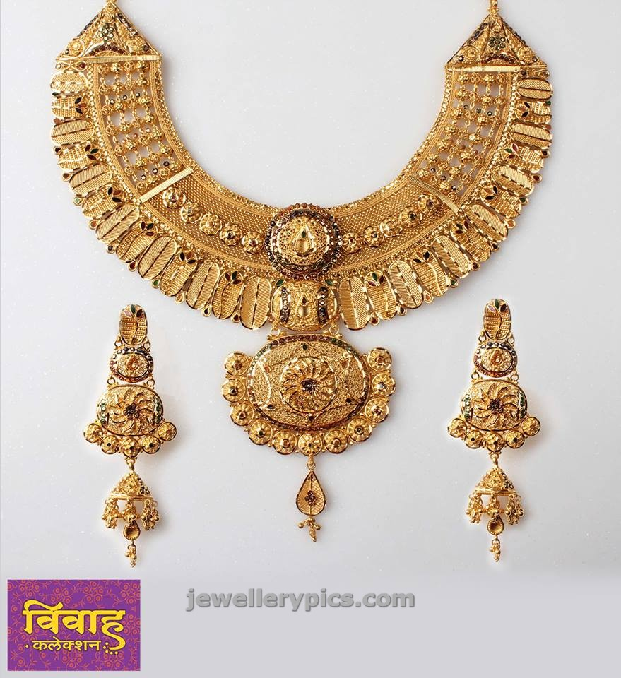 PNG jewellers price less gold necklace from vivah collection ...