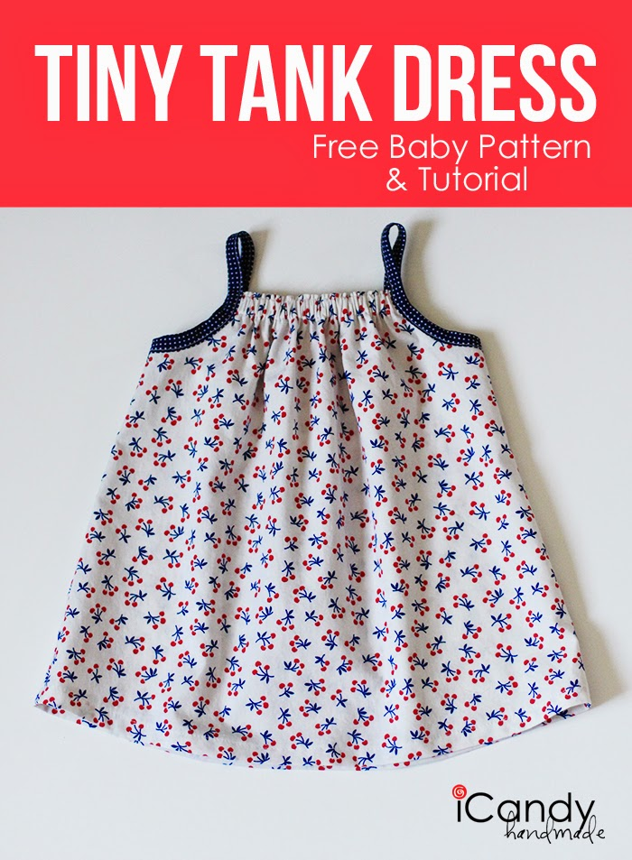 Toddler or Baby Tank Dress tutorial