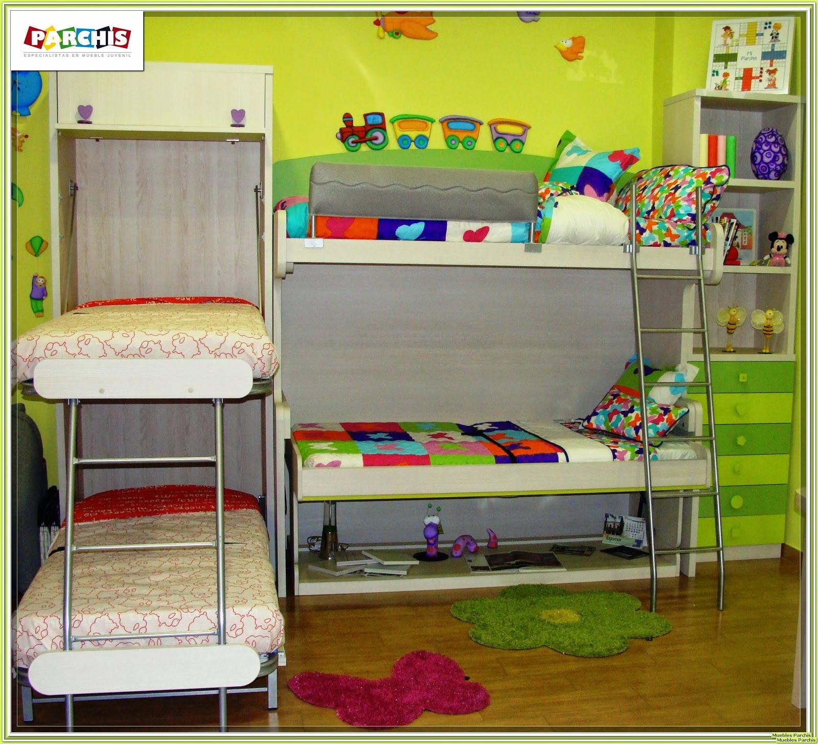 Habitacion Para Tres Nios Cama Kura De Ikea Ideas Dormitorios De  # Muebles Farucho