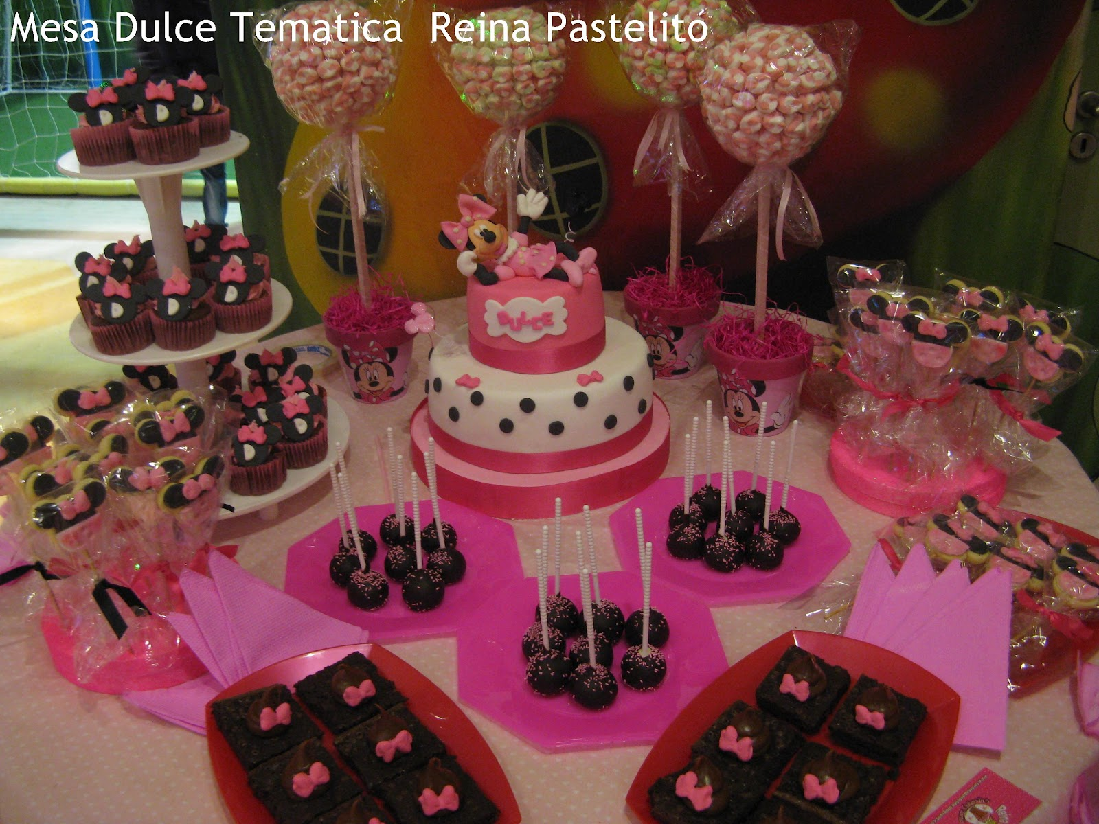 Mesa Dulce tematica Minnie Mouse