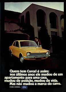 propaganda Ford Corcel - 1976.  reclame de carros anos 70. brazilian advertising cars in the 70. os anos 70. história da década de 70; Brazil in the 70s; propaganda carros anos 70; Oswaldo Hernandez;