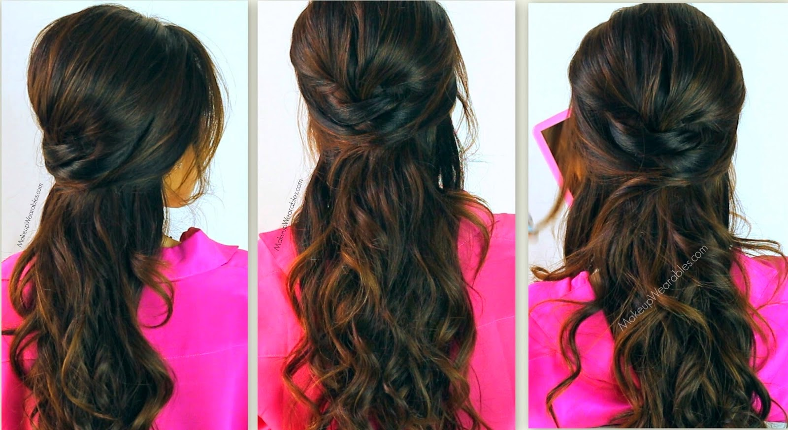 Half Updos For Long Hair Tutorial Pcitures And Video 2014 New