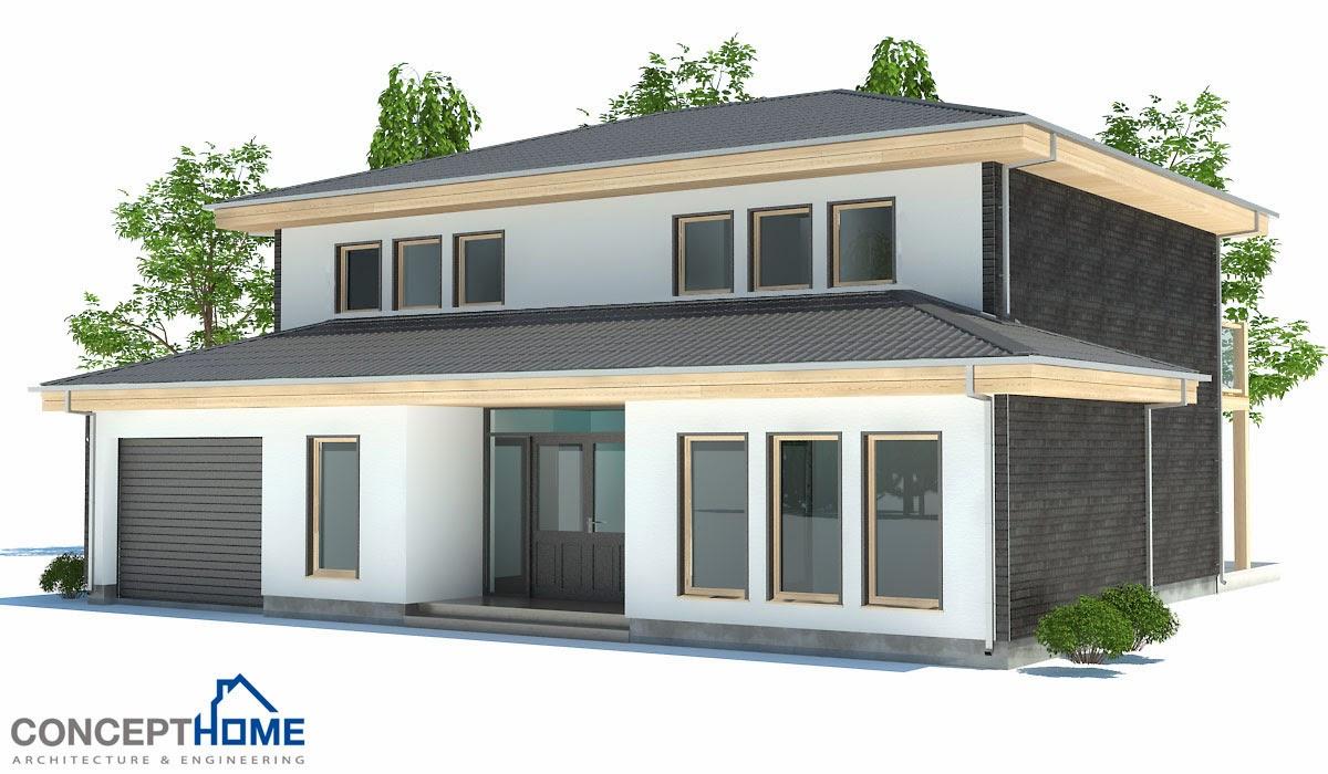 Plantas de casas modernas planta de casa moderna ch176 for Plantas de viviendas modernas