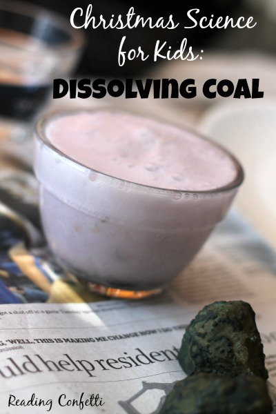 Have some Christmas science fun with lumps of coal that fizzle and dissolve