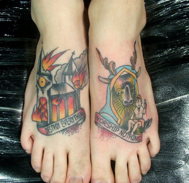 Sacrilegious tattoos