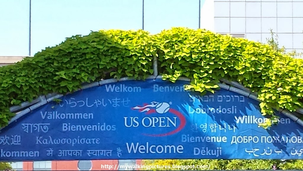 My Walking Pictures Us Open At The Flushing Meadows Corona Park - Us-open-tennis-center-map