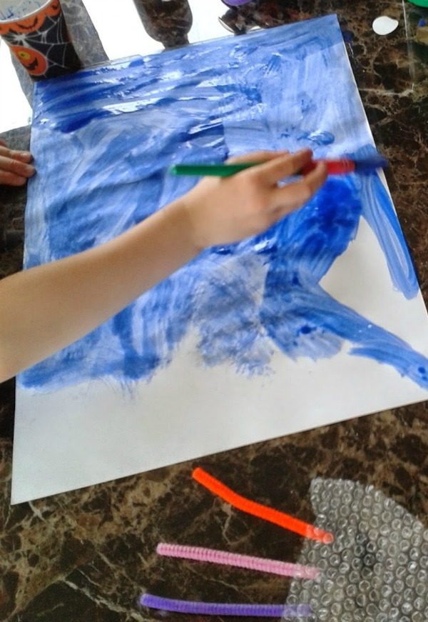 Bubble Wrap Activities for Kids Jellyfish Craft