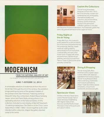 Brochure for Modernism From the National Gallery of Art - Inside