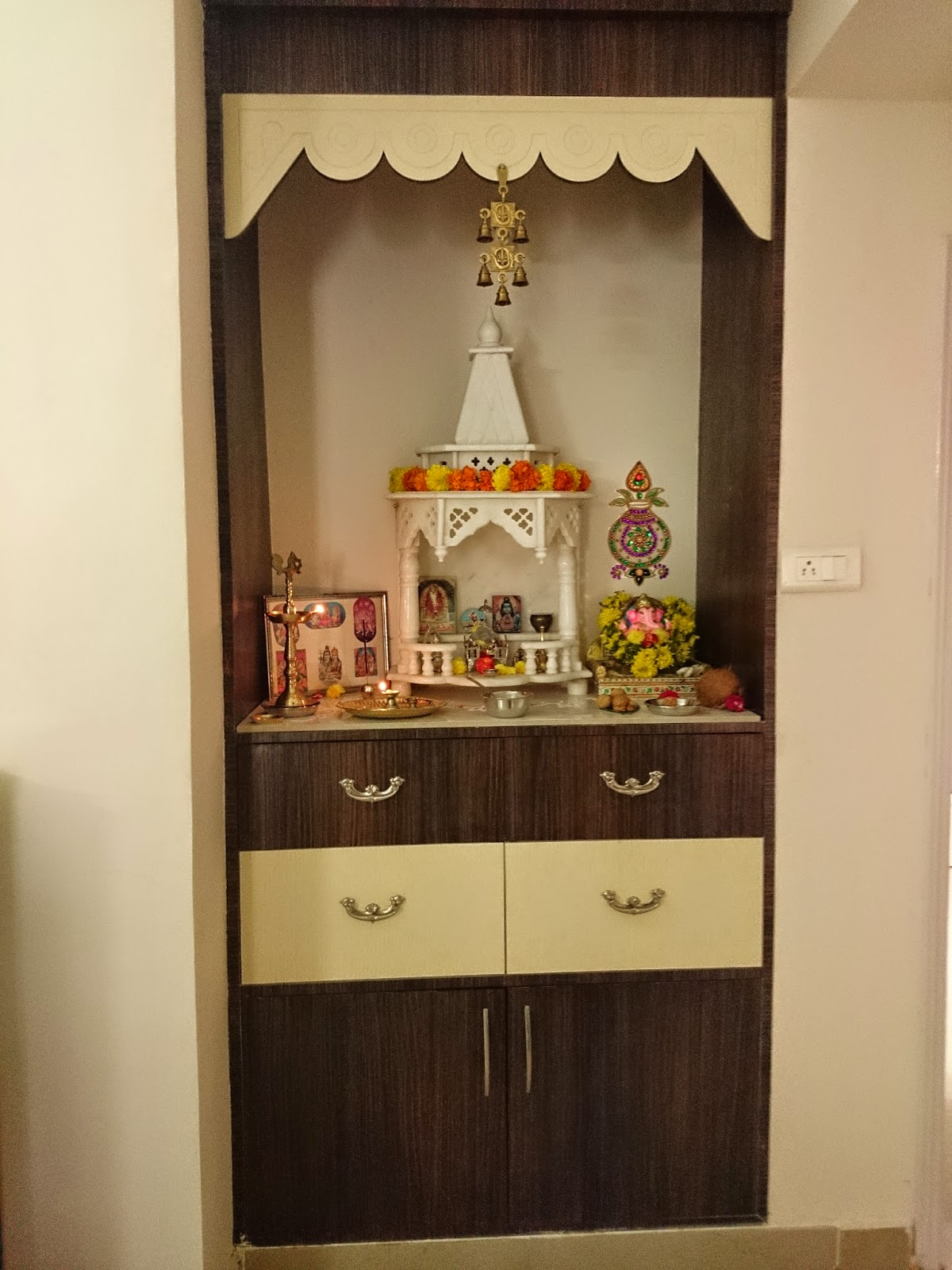 High Quality Awesome Hindu Small Temple Design Pictures For Home Contemporary .