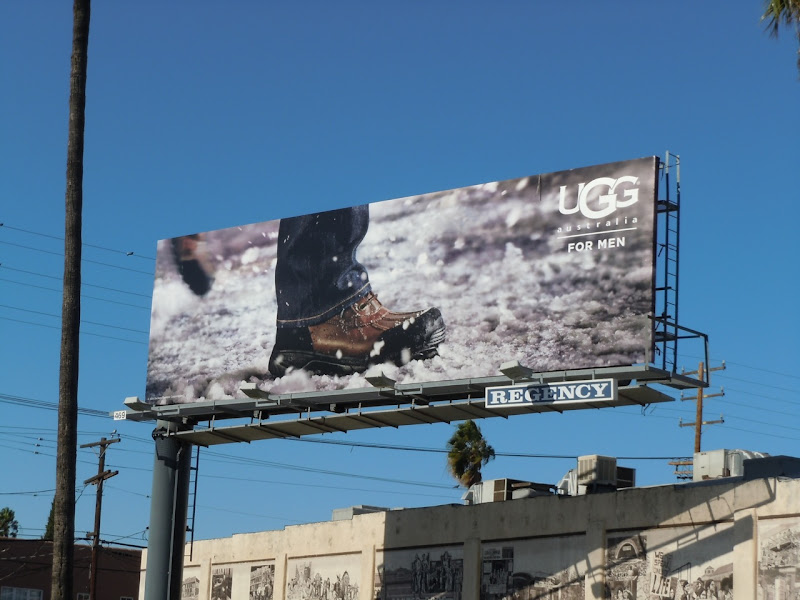 UGG Men boot billboard
