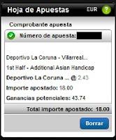 Apuestas Rosberg Deportivo de La Coruña-Villarreal B Fútbol – Liga Adelante Titanbet