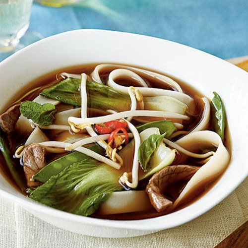 Beef-Noodle Soup with Asian Greens. Here are Recipe Vietnamese Beef ...